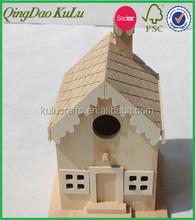 new eco-friendly decoration wooden bird houses,mini decorative bird houses