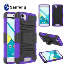 New arrival dual color kickstand pc silicone hybrid case for blu studio Engergy D810 combo cover