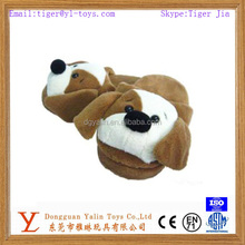 High quality comfortable plush 3D indoor dog slipper for promotion