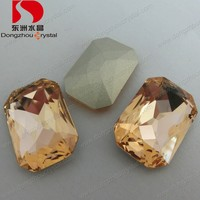 Lead Free Light Peach Colored Loose Fancy Crystal Stone for Wedding Dresses