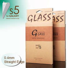 """JJL Tempered Glass Screen Protector For Samsung Galaxy S5 (0.4mm 5.1"""" Straight Edge 9H HD Clear)"""
