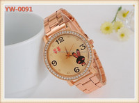 Fashion popular rose gold watches ladies fancy wrist watches 2014 .