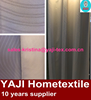 single side wave pattern embossed blackout curtain fabric