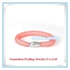 pink color high quanlity resin crystal stardust bracelet