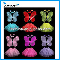 Hot sale 2012 Butterfly Costume Pink Fairy Wing and Tutu Set
