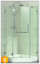 china bathroom designs diamond glass mobility portable simple shower room/shower room