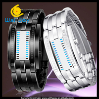 2014 newest special design LED popular made in China 50ATM lovers watch(SW-1287)