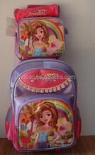 OEM 2011 latest 3 sets trolley school bags for girls