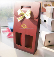Unique High Quality Paper Printed Gift Wine Bottle Packaging Box Wholesale