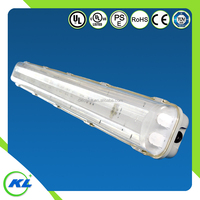 Hot sale IP65 t8t10 2tubes tri-proof led fluorescent light fixture plastic cover
