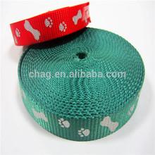 10mm ~ 50mm de nylon de impresión bandalateral para collares de perro y correas