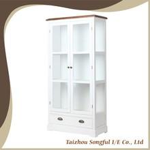 Urge blanco de madera vitrina, Book Shelf