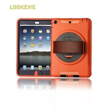 PC + TPU rotation 11 color cover for iPad 5 360 degree case