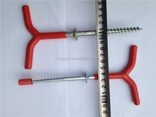 19CM With handle Winter camping accessory Steel tent peg stake, tent nail