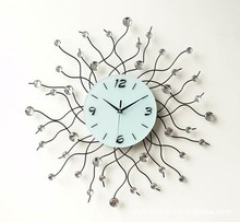 American Style Home Goods Decorative Beautiful Creative Wholesale Iron Metal Art Dial Of Wall Clock Wall