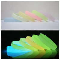 glow in the dark blank sport solid wristband silicone bracelet free shipping by FEDEX express