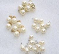 Wholesale rhinestone pearl button for garment sewing beads accessories