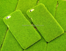 Japanese Style Flocking Green Lawn PC Cover Case for iPhone 6 (4.7''), China Supplier