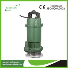 small clear water electric fuel pump submersible pump QDX6-14-0.55 float switch submersible pump