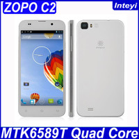 "5.0"" LTPS Screen ZOPO C2 android 4.2 smart phone Quad core MTK6589T 1.5GHz 1GB RAM 16GB ROM Good Camera 13MP bluetooth GPS White"