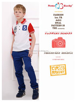 2015 new europe style boy fashion embroidered polo t-shirt