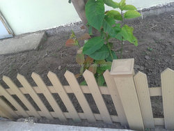 wpc fencing for outdoor garden/a whole set of plastic garden fence panels