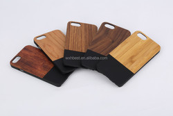 Factory New Design Mix PC Bamboo Case for iPhone 6 Half PC Half Wood Case With Good Price