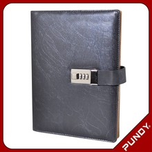 leather diary with code lock / personal lock diary