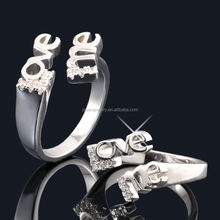 New fashion rhodium plated jewelry siver ring--JR8357