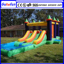 GUTEFUN playground equipment green jungle inflatable table water pool slide