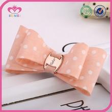 Simple design polka dot fabric hair bow