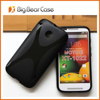 High quality soft tpu back cover for moto e cell phone case
