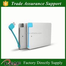 New slim portable battery charger power bank japan power bank credit card