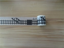 New design railway washy Japanese paper road tape for children car toy