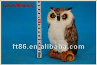 sythetic fur animal figurines,owl toy, owl replica