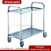 PRD-L2 Quality and good price foldable food service trolley metal tea trolley