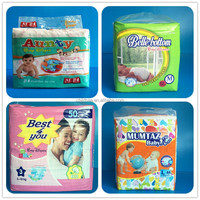 Baby disposable diapers manufacturers colored sleepy dry first diaper