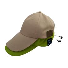 gorra de béisbol con el auricular bluetooth / bluetooth sombrero para el sol