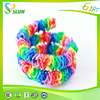 2015 Wholesale 100% Eco-Friendly Crazy colorful Silicone DIY Loom Bands