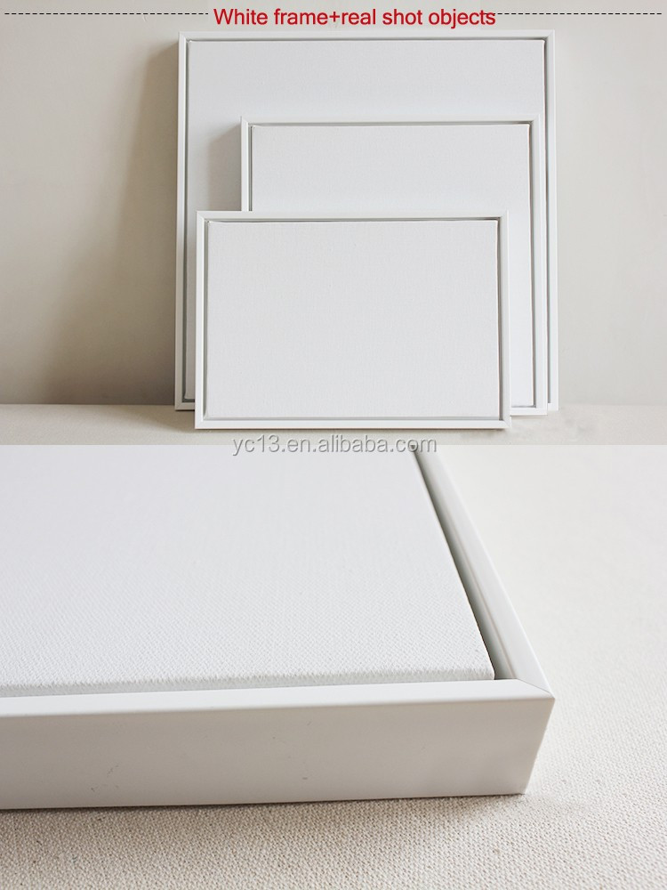 white framed & linen blank mini stretched canvas for paintings