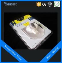 New style custom popular insert plastic packing box, blister card packaging for spotlight and plug