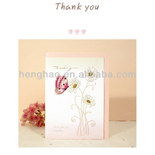 2014 customized competitive price promotion message greeting card