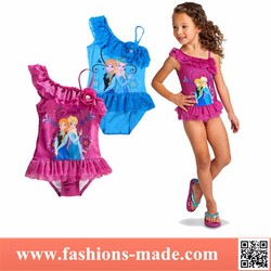 Two Colors Lace Patchwork Frozen Cover-up Bikini