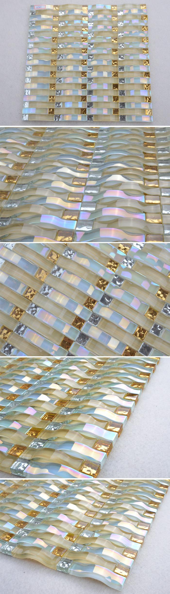 GT010 wand mosaikkunst/glasmosaik für küche fliesen weiß/glas ...