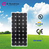 Reliable performance poly 100w 12v solar panels