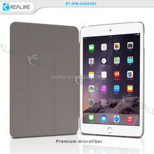 Cheap factory price good quality folded stand flip leather for ipad mini 3 cover case