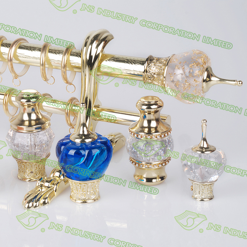 Glass curtain rods