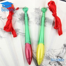 Cheap Promotional Plastic Hanging Ball Pens with lanyard, Ball Pen With String