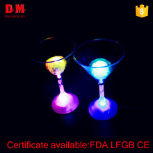 Popular multicolor led plastic champagne cup for party