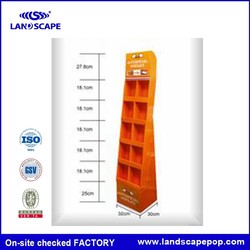 High quality cardboard cookies retail display for Wal-mart Approved Factories